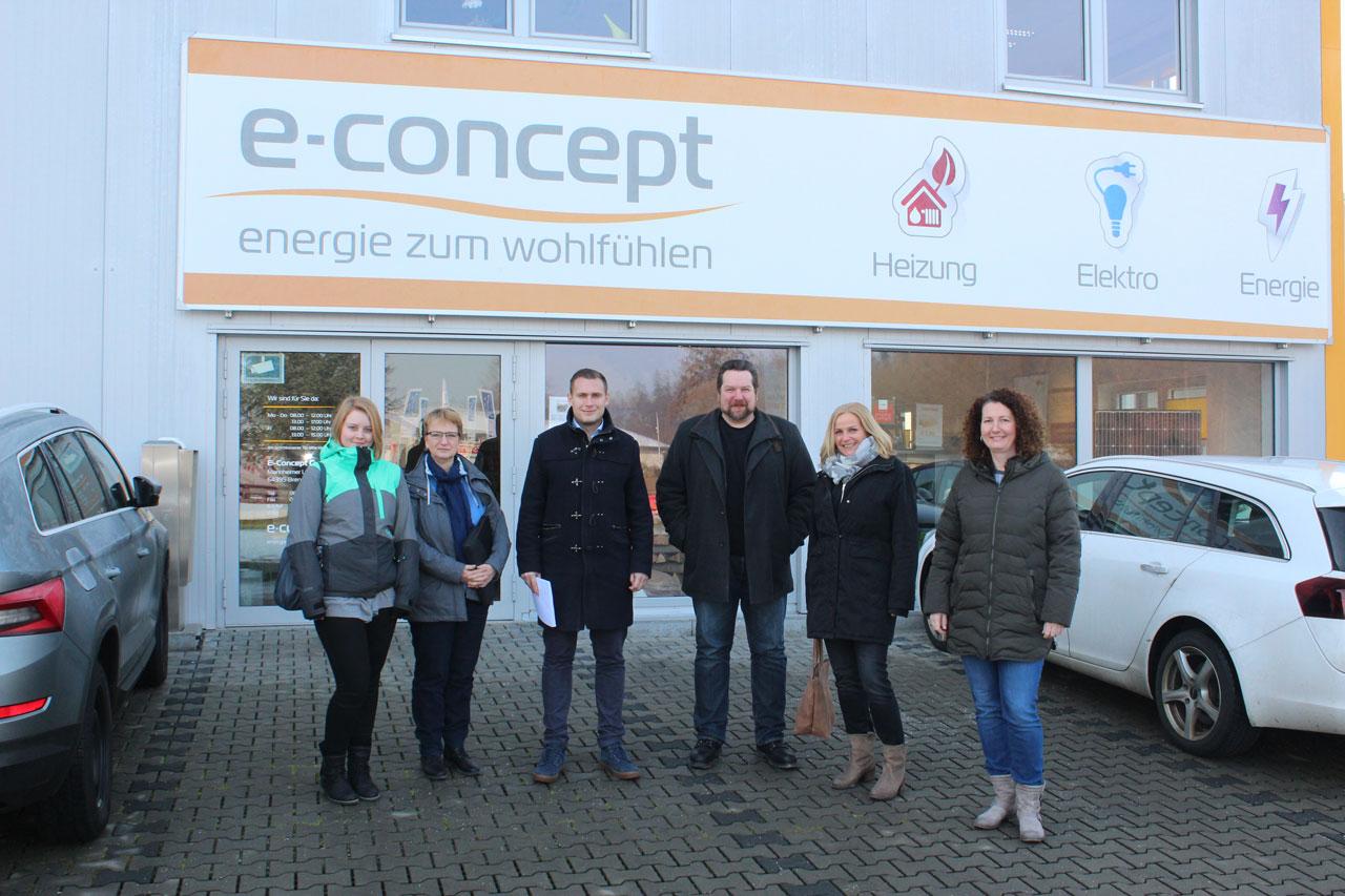Kommunales Job-Center und InA gGmbH besuchen E-Concept GmbH in Brensbach
