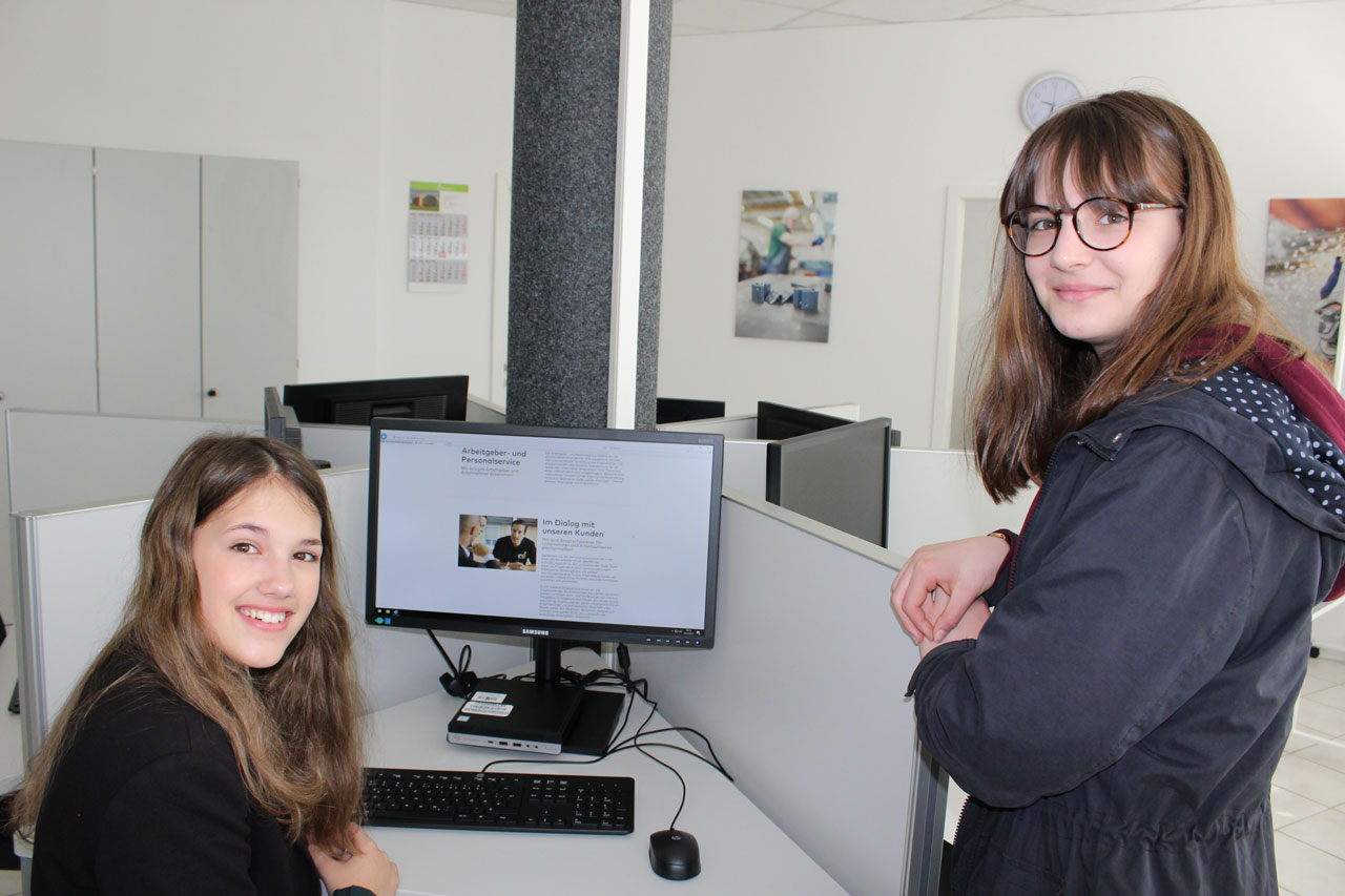Girls´Day bei der InA gGmbH -Integration in Arbeit- in Erbach