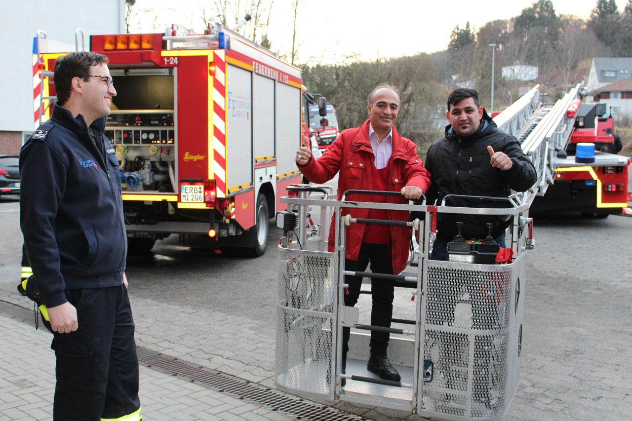 Informative Veranstaltung für Migranten bei der Freiwilligen Feuerwehr Erbach