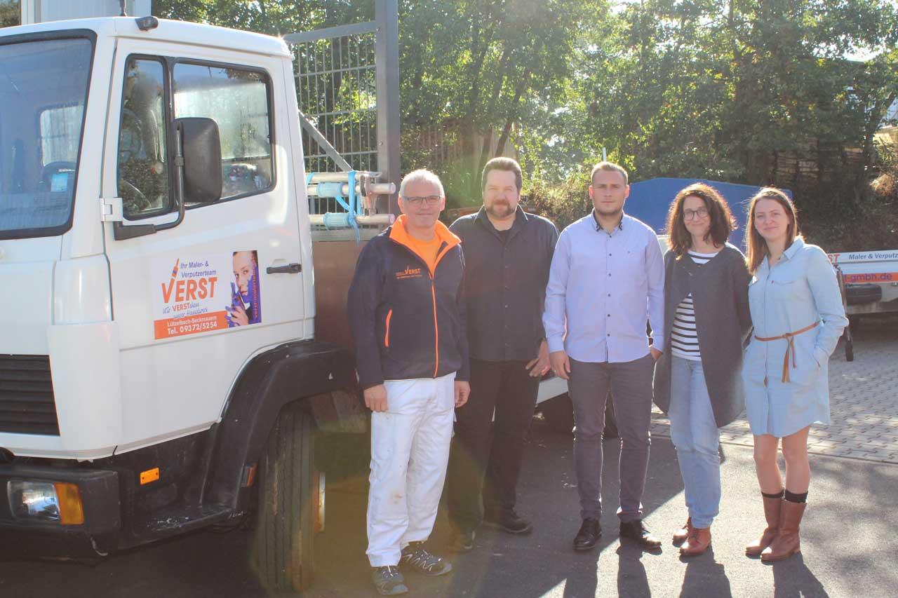 Teamleiter des Kommunalen Job-Centers Odenwaldkreis zu Gast bei der HW Verst GmbH Maler & Verputzer in Lützelbach