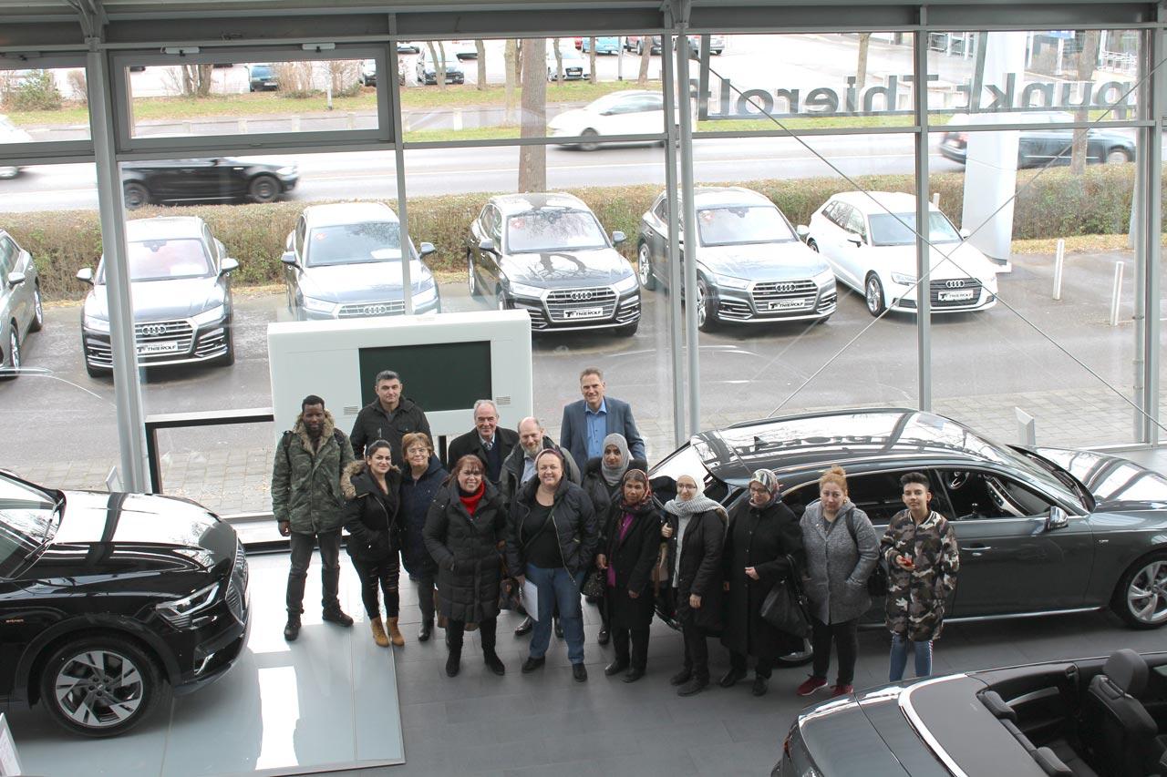 """Maßnahme """"MInA –Migranten Integration in Arbeit"""" auf Betriebsbesuch bei Treffpunkt Thierolf GmbH + Co. KG in Michelstadt"""
