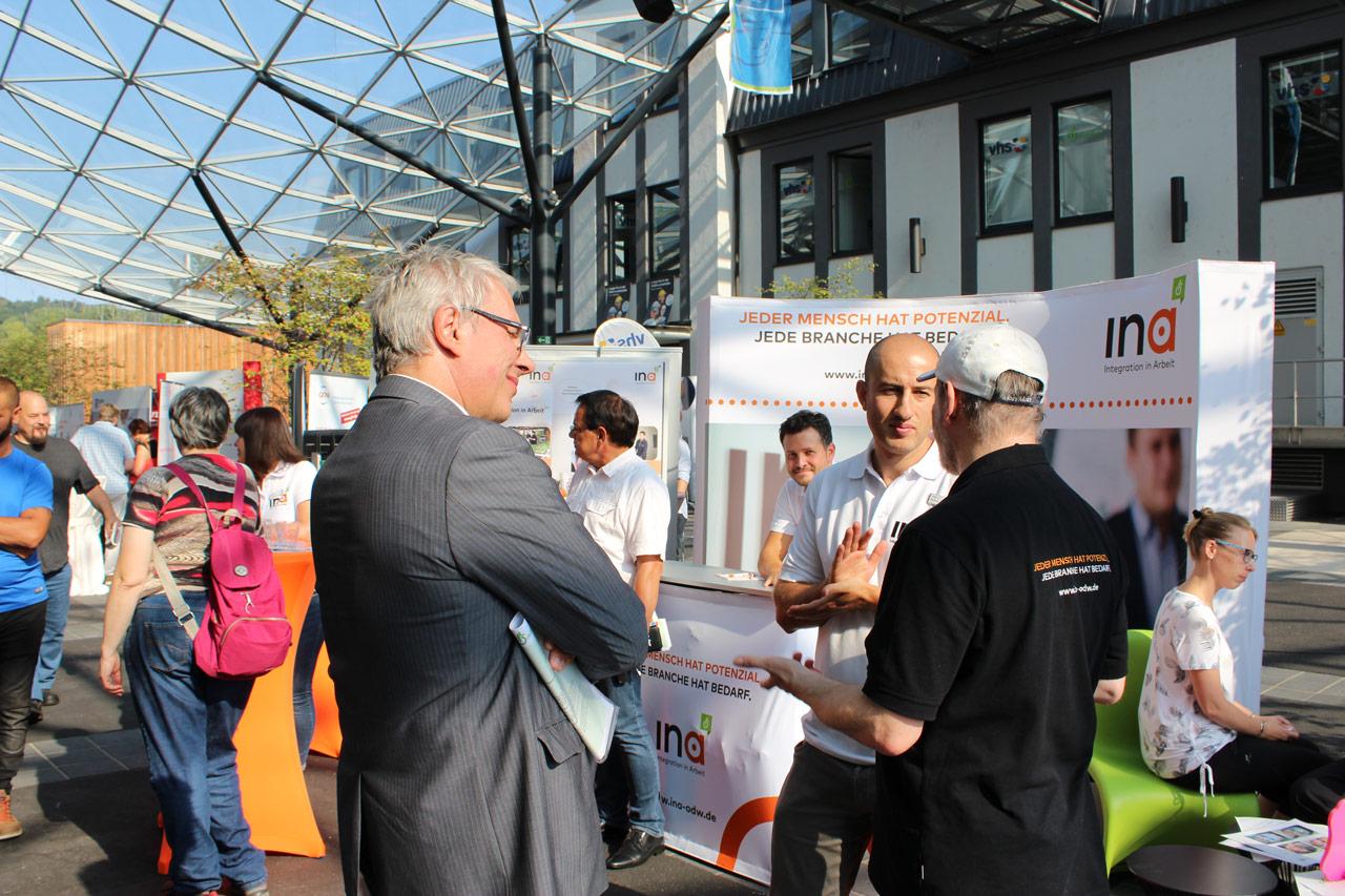 InA gGmbH beim Aktionstag des Kommunalen Job-Centers Odenwaldkreis im Haus der Energie in Erbach